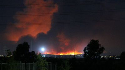 9NEWS reader Troy Reciszen took this photo of the fire in the Adelaide Hills. (Troy Reciszen)