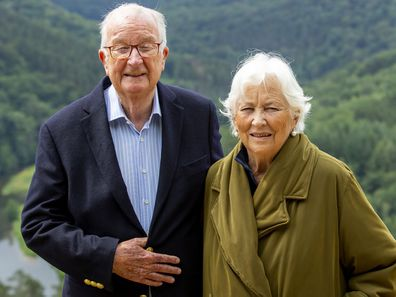 Former King Albert II and Queen Paola of Belgium.