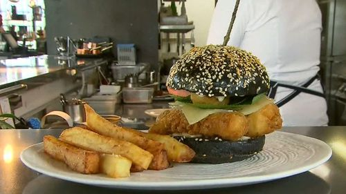 Million Dollar Burgers: The $250 option (pictured) features gold dust and tempura lobster medallions.