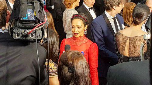 Best Actress nominee and Loving star Ruth Negga. (9NEWS/Ehsan Knopf)