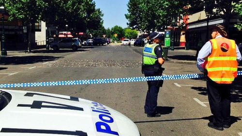 Parts of the CBD were cordoned off. (Andrew Nelson, 9NEWS)