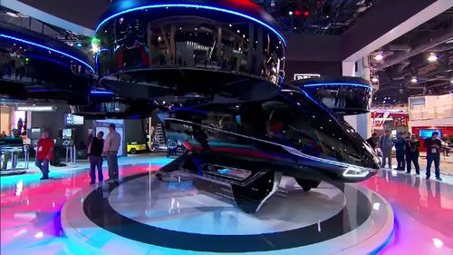 The Consumer Electronics Show in Las Vegas displayed many weird and wonderful gadgets, including a giant passenger drone.