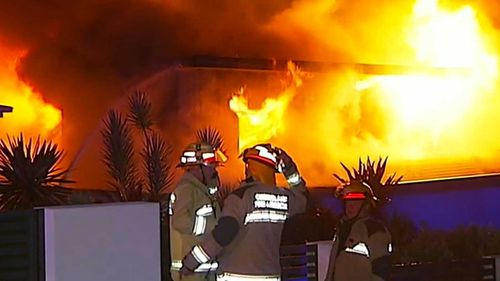 A barbecue fire sparked an inferno that destroyed a Gold Coast home.