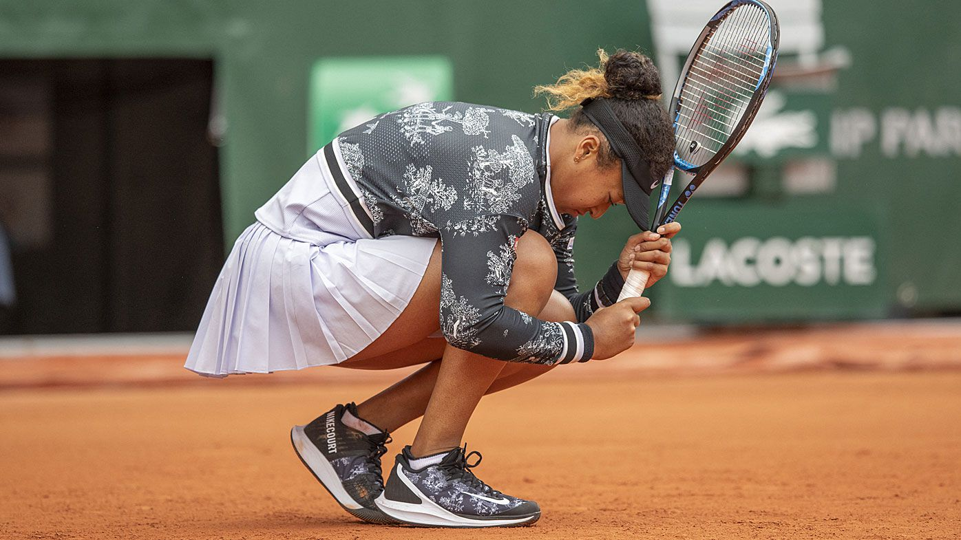'Nervous' world no.1 Naomi Osaka struggles in French Open first round