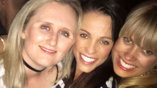 A happy and healthy Carly Buhagiar (centre) with friends, before her health started to go downhill. (Photo: Carly Buhagiar)
