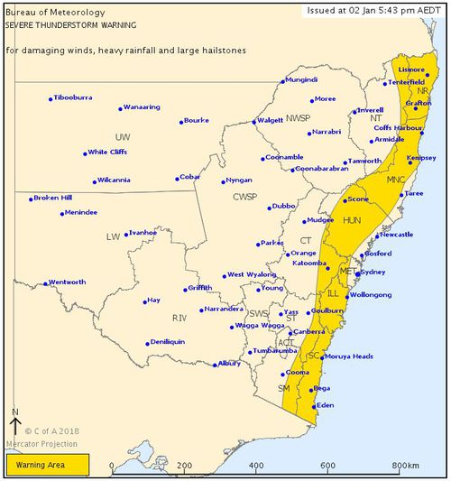 The Bureau of Meteorology has issued a storm warning for the NSW coast. (BoM)