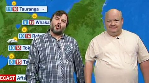 Watch: Tenacious D takes over NZ weather report