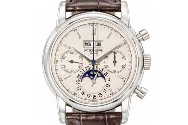 Eric Clapton's rare platinum Patek Philippe watch was made in 1987.