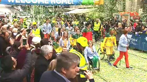 Paralympians welcomed home to Melbourne during CBD parade