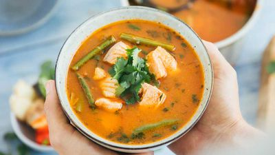 Hearty thai fish soup
