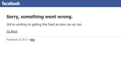 Facebook goes down unexpectedly