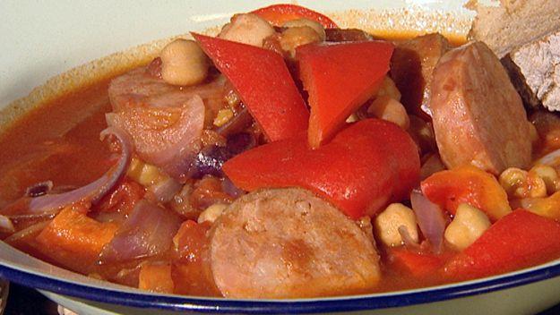Wok Chickpea & chorizo stew