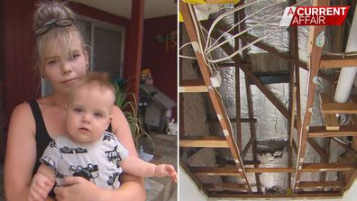 Family forced to shower in backyard over insurance debacle