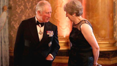 Theresa May and Prince Charles. (PA/AAP)