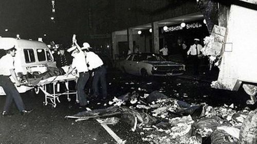 The aftermath of the Hilton Hotel bombing.