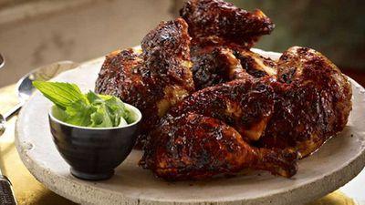 """Recipe:<a href=""""http://kitchen.nine.com.au/2016/05/16/15/09/tandoori-chicken"""" target=""""_top"""">Tandoori chicken</a>"""