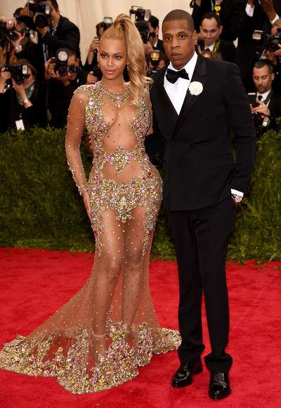 Beyonce in Givenchy Haute Couture and Jay-Z at China : Through The Looking Glass the 2015 Met Gala
