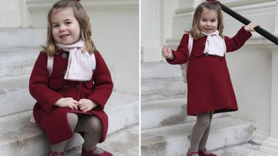 Princess Charlotte pictured on her first day of nursery, January 2018