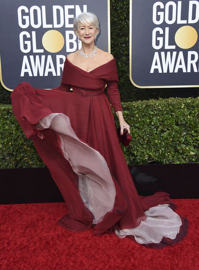Golden Globes' best dressed: Helen Mirren