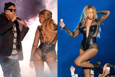 Beyonce and Jay Z (AKA the queen and king of the world) have teamed up for a joint tour...and it won't be coming to Australia. Major sad face.<br/><br/>But TheFIX has got the next best thing...all the booty-baring costumes, fierce posing and hair-tossing we've come to expect from a Beyonce show. And some Jay-Z too! Click through for all the pics from the opening gig in Miami.<br/><br/>'You ready Bey? Let's go get 'em...' <br/><br/>Written by: Josie Rozenberg-Clarke Pics: Getty<br/><br/>