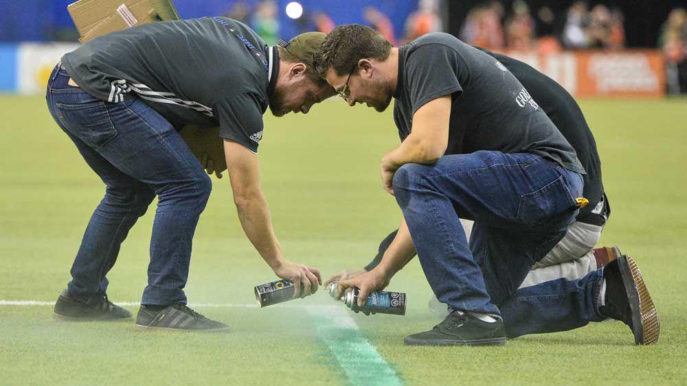 Football: MLS semi-final delayed by improper penalty area