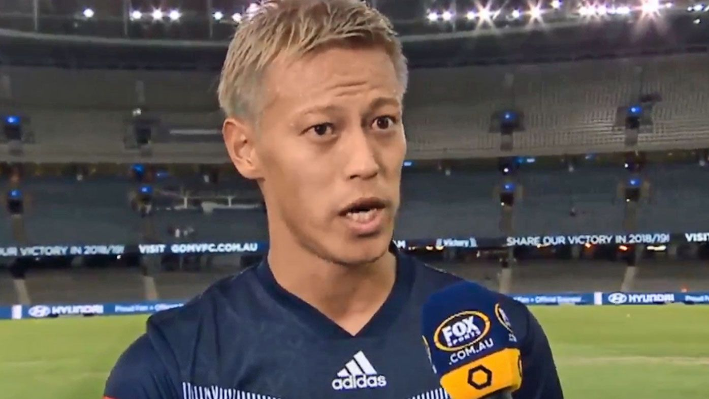 Keisuke Honda wants more from high-flying Melbourne Victory