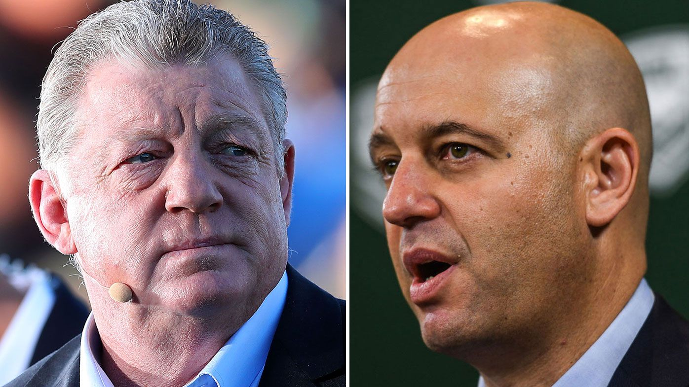 Phil Gould and NRL chief Todd Greenberg