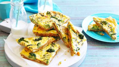 "Recipe: <a href=""http://kitchen.nine.com.au/2017/06/27/13/50/sweet-potato-and-broccoli-frittata"" target=""_top"">Sweet potato and broccoli frittata</a>"
