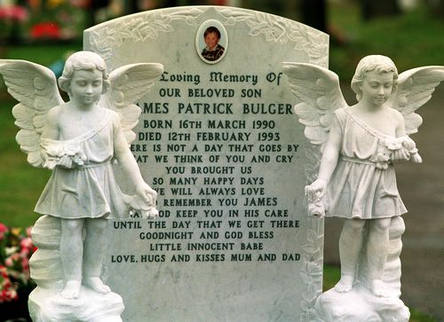 James Bulger's relatives are'furious' over the film's Oscar tip. James is buried in Liverpool, northern England.