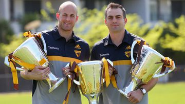 Retiring Hawks David Hale and Brian Lake. (Getty)