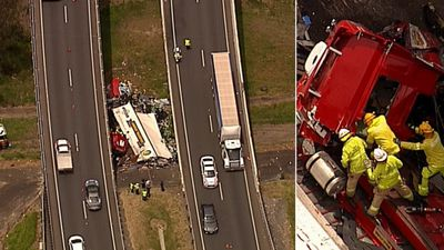 Truck driver may have lay in wreckage for hours