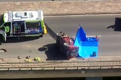 The calls come after a spate of recent crashes on roads around Australia, with the government saying Australians needs to make the choice to choose road safety when they drive. Picture: 9NEWS.