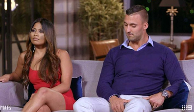 With 'husband' Nic Jovanovic on MAFS.