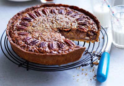 Pecan and maple pie