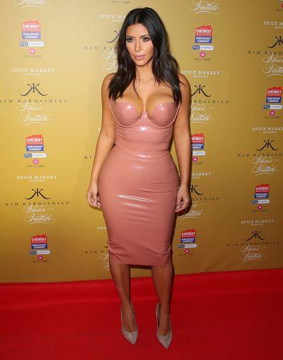 Kim Kardashian wearingAtsuko Kudo to launch her fragrance Fleur Fatale in Melbourne, November, 2014