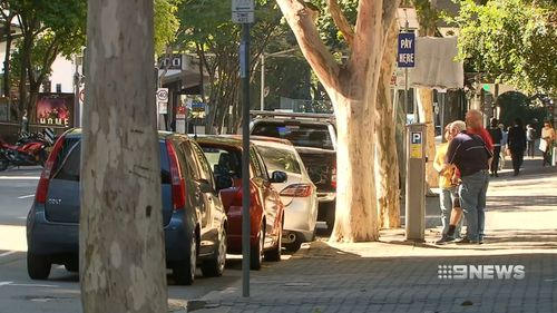 Mr Sutherland says he parked next to a sign that said he could park there. He decided to go to the courts to stand up for his rights. Picture: 9NEWS