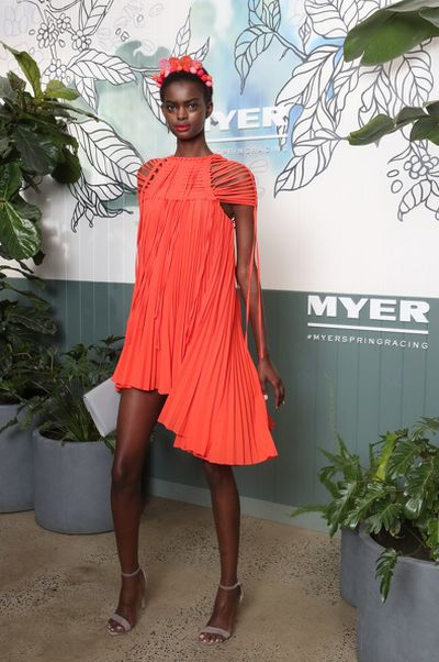 Model Adau at the Myer Spring Racing 2017 Launch.