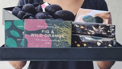 """<a href=""""http://www.panachocolate.com/online-shop-92.html#/page/2"""" target=""""_top"""" draggable=""""false"""">Pana Chocolate</a>&nbsp;is well known for it's raw, vegan, organic and delicious treats. Ethically sourced is another tick. So if you like your chocolate with a side of 'guilt-free' then we recommend their large Easter hamper.&nbsp;<br /> You can only get it in store, so find their locations <a href=""""http://www.panachocolate.com/"""" target=""""_top"""" draggable=""""false"""">here</a>. They also have plenty of non Easter treats on offer, as well as smaller hampers.<br /> <br /> RRP - $89.90 for an assortment of Pana favourites"""