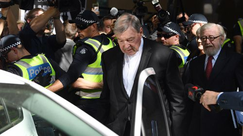 Cardinal Pell's initial court hearings drew international media attention.