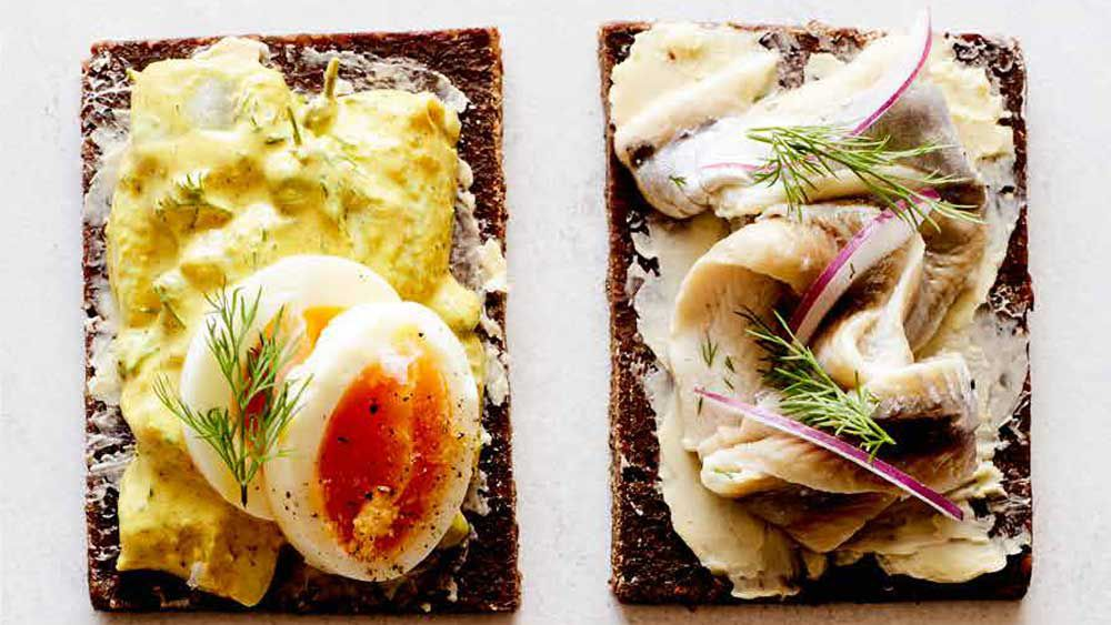 Pickled herring on rye
