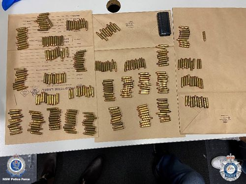 523 rounds of ammunition were also seized.