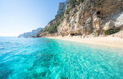 Cala Gabbiani beach, Sardinia, Italy