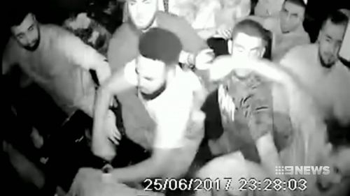 The wild all-in brawl erupted in a darkened room at Dynasty Karaoke Bar last year. Picture: 9NEWS