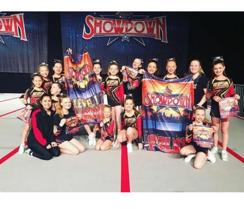 The girls won first place with a 100 percent score at a preselection competition in Perth last October. (Extreme Cheer Allstars)