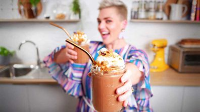 Jane de Graaff's boozy s'mores hot chocolate with torched meringue for cold nights