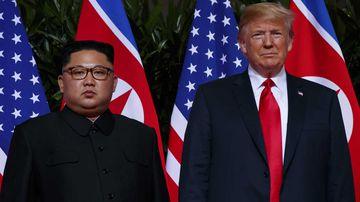 Donald Trump and Kim Jong-un. (AAP)