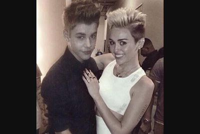 Justin and Miley have been good mates for years.  They've even done a song together called 'Twerk'! In June 2013, the pair left an LA party together at 2AM, according to TMZ. Fans are just dying for them to get together - celeb gossip blogger Perez Hilton included.<br/><br/>Image: Snapper