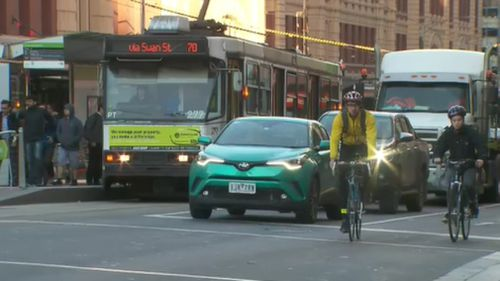 """The best way to get cars out of the city is to do exactly what we're doing,"" Premier Andrews said. (9NEWS)"