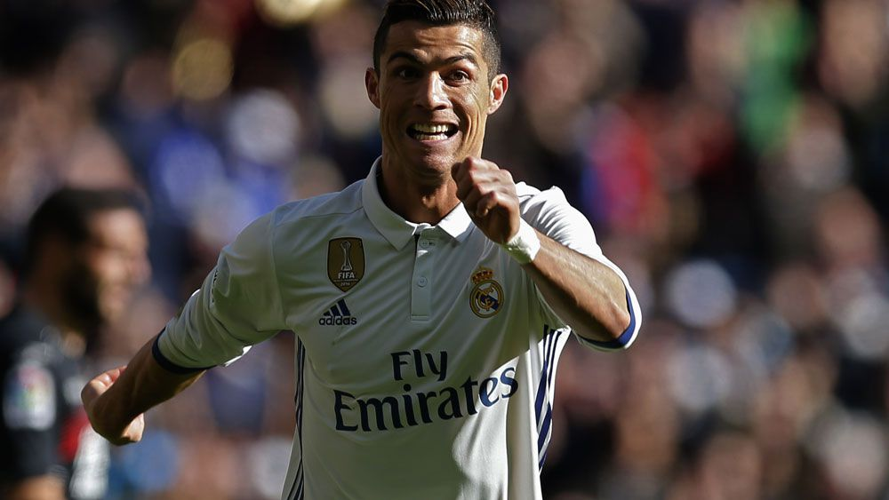 Cristiano Ronaldo and Barcelona keep marching on. (AAP)