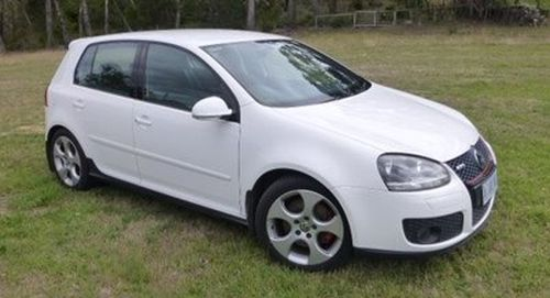 Robert Tran's white VW Golf GTI. (NSW Police)